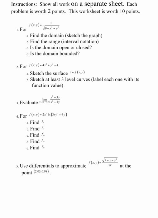 Interval Notation Worksheet with Answers Kids solved Instructions A Separate Sheet Each Problem is