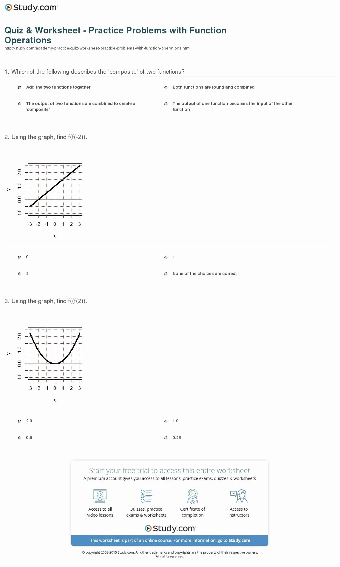 Inverse Functions Worksheet with Answers Printable 6 Inspirational Inverse Functions Worksheet with Answers Di 2020