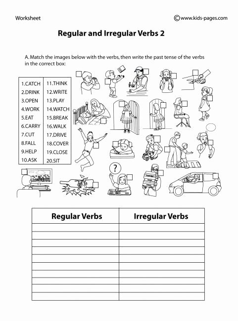 Irregular Verbs Worksheet 2nd Grade Best Of Irregular Verbs Worksheet 2nd Grade Regular and Irregular