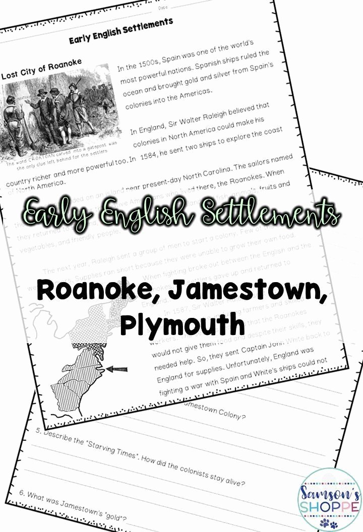 Jamestown Colony Worksheet 5th Grade Free Jamestown Colony Worksheet 5th Grade Early Colonial