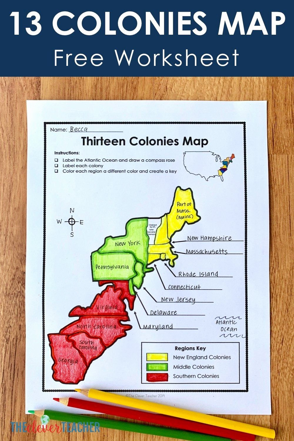 Jamestown Colony Worksheet 5th Grade top Jamestown Colony Worksheet 5th Grade 13 Colonies Free Map