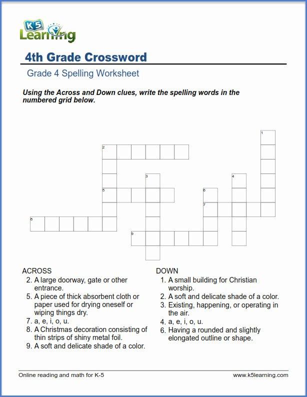 K5 Learning Math Grade 4 Printable Fourth Grade Spelling Worksheets
