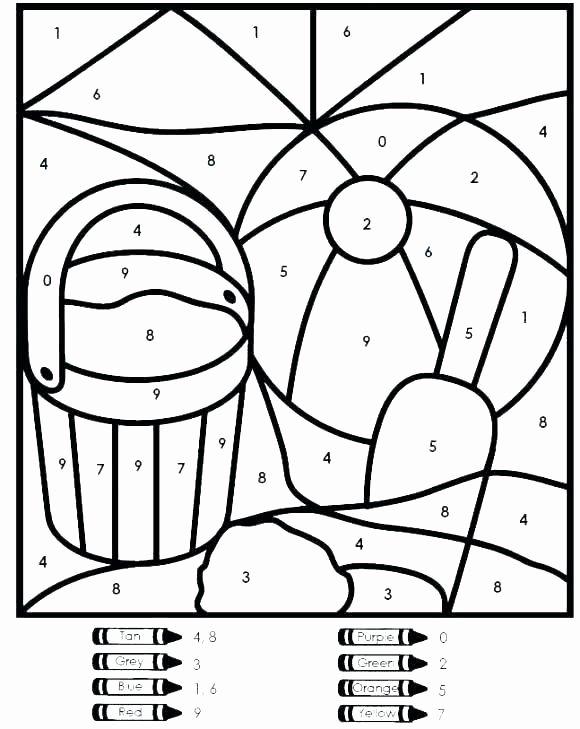 Kindergarten Color by Number Worksheets Inspirational Easy Color by Number for Preschool and Kindergarten