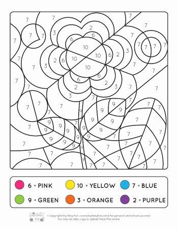 Kindergarten Color by Number Worksheets Lovely Spring Color by Numbers Coloring Number Worksheets Itsy