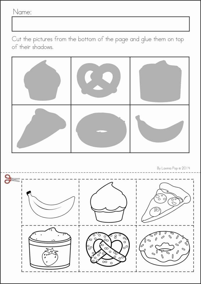 Kindergarten Cut and Paste Worksheets Printable Printable Preschool Worksheets Cut and Paste Free Age Basic