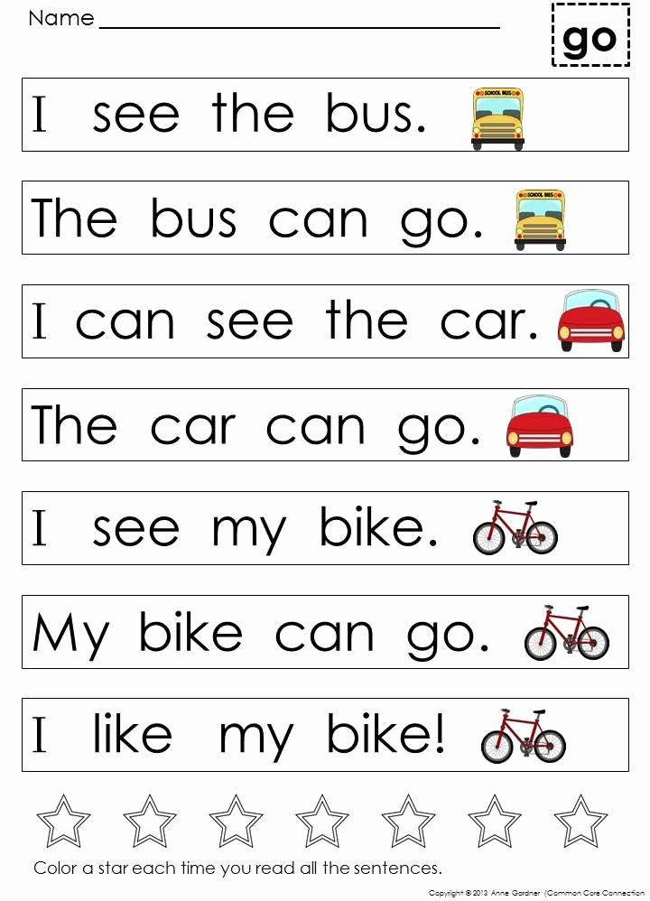 Kindergarten Reading Worksheets Sight Words Kids Kindergarten Sight Word Sentences and Games for Guided