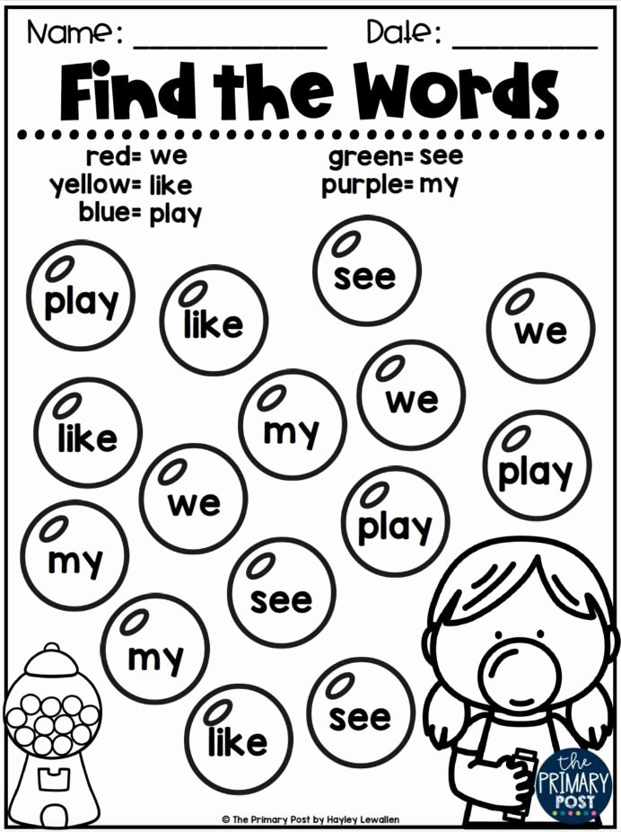 Kindergarten Reading Worksheets Sight Words Printable Coloring Pages 40 Outstanding Kindergarten Reading