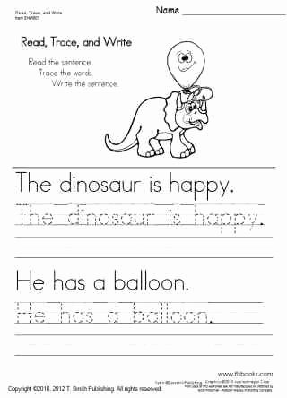 Kindergarten Sentence Writing Practice Worksheets Lovely Read Trace and Write Worksheets 1 5