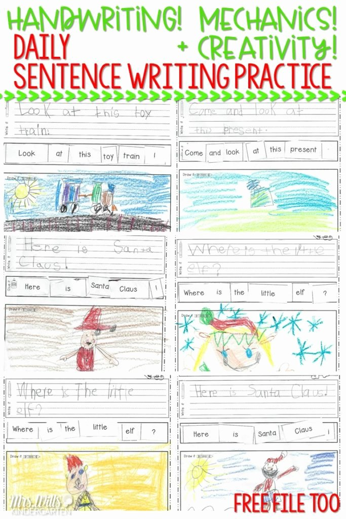 Kindergarten Sentence Writing Practice Worksheets Lovely Worksheet Kindergartenndwriting Practice and Sentence