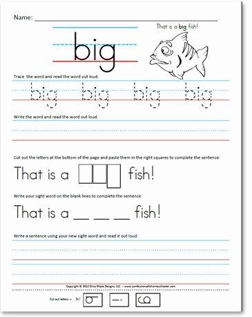 Kindergarten Sight Words Worksheet Free Best Of Pre Kindergarten Pre Primer Sight Word Sentences