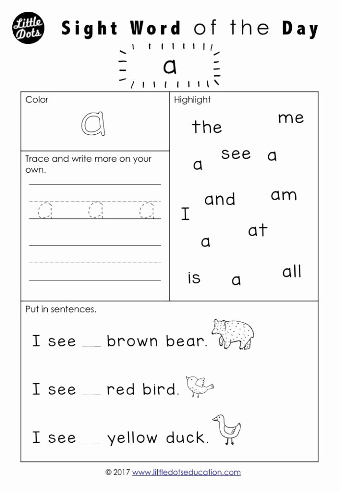 Kindergarten Sight Words Worksheet Free Ideas Free Pre Dolch Sight Words Worksheets Set Word Kindergarten