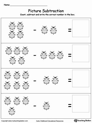 Kindergarten Subtraction Worksheets Free Printable Kids Preschool Subtraction Printable Worksheets