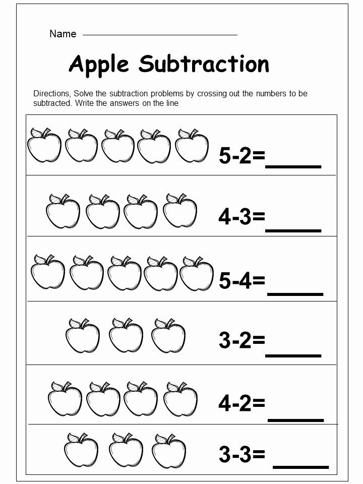 Kindergarten Subtraction Worksheets Free Printable New Free Kindergarten Subtraction Worksheet Kindermomma