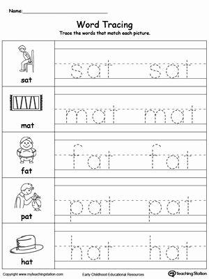 Kindergarten Three Letter Words Worksheets Best Of Word Tracing at Words