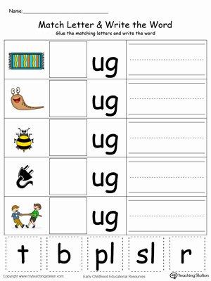 Kindergarten Three Letter Words Worksheets Kids Coloring Pages Kindergarten Building Words Printablets Ug