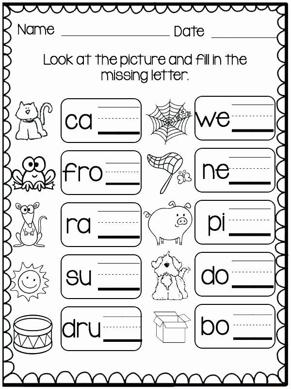 Kindergarten Three Letter Words Worksheets top Missing Letters Worksheets for Kindergarten Three Letter
