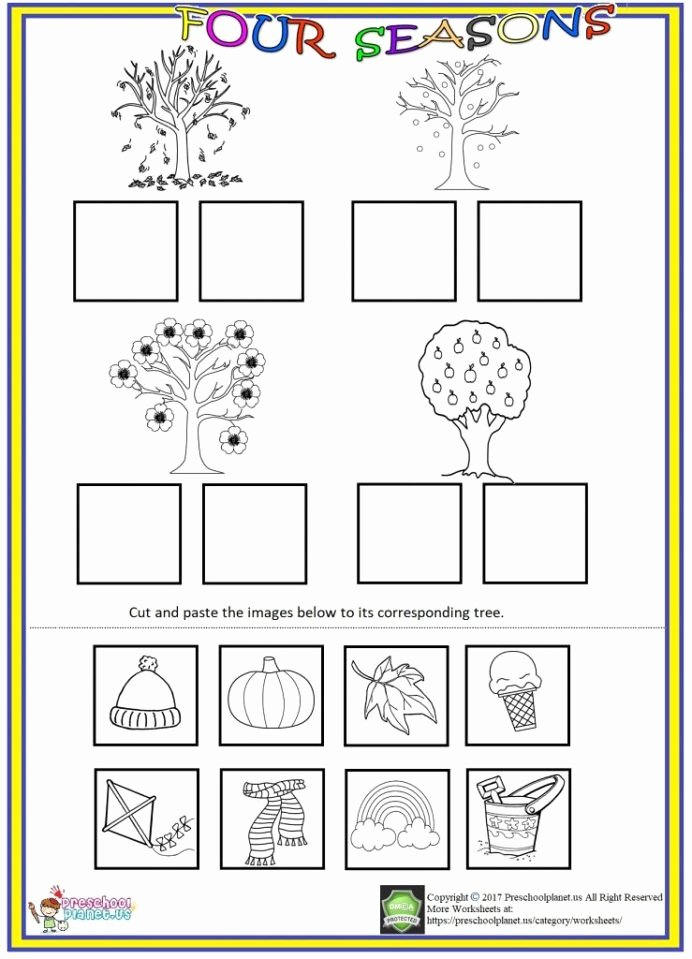 Kindergarten Worksheets Cut and Paste Best Of Four Seasons Cut and Paste Worksheet We Prepared Seas Flickr