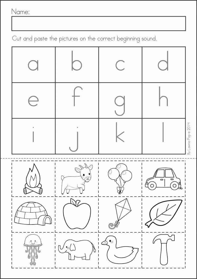 Kindergarten Worksheets Cut and Paste Ideas Pin On Worksheets