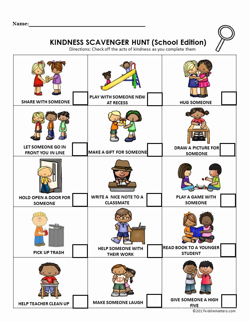 Kindness Worksheets for Elementary Students Kids Acts Of Kindness Ideas for Kids with Free Printable Kid
