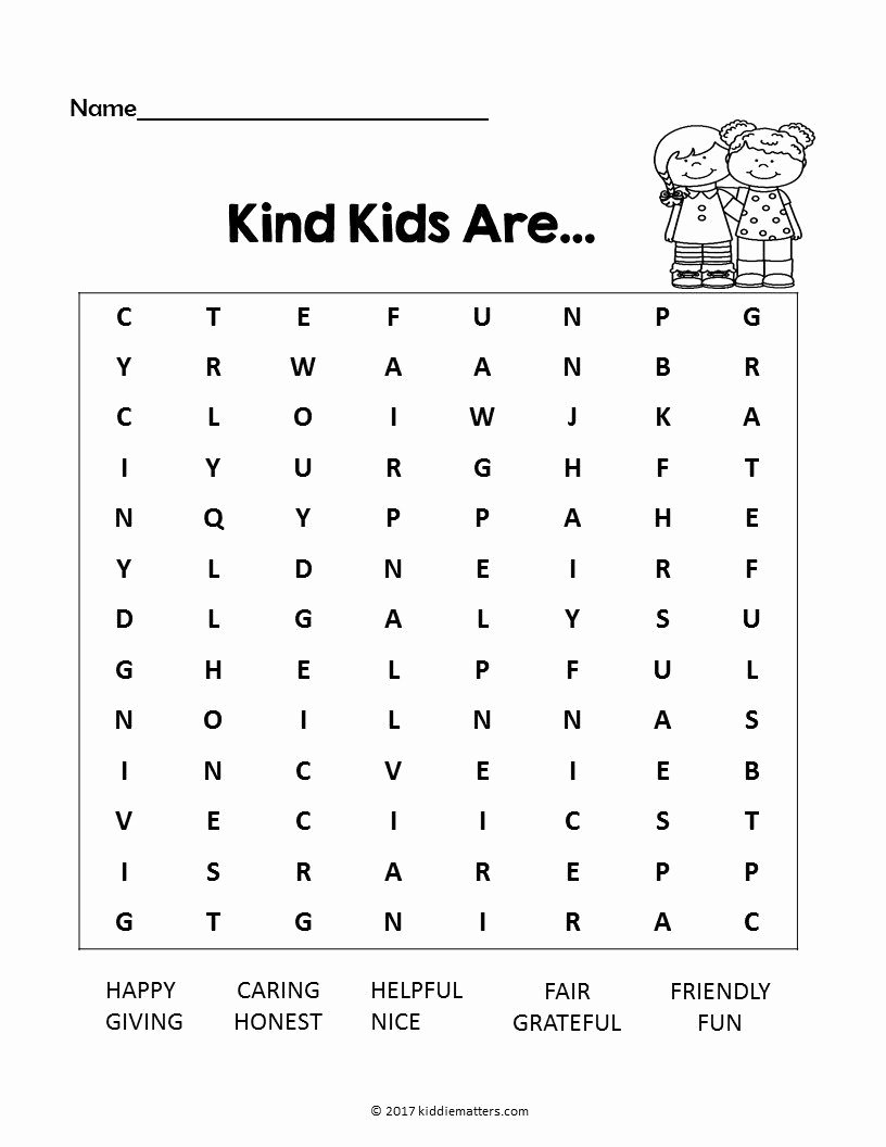 Kindness Worksheets for Elementary Students Printable Acts Of Kindness Ideas for Kids with Free Printable Kid