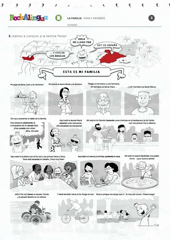 La Familia Worksheet In Spanish Kids Family Members Worksheet