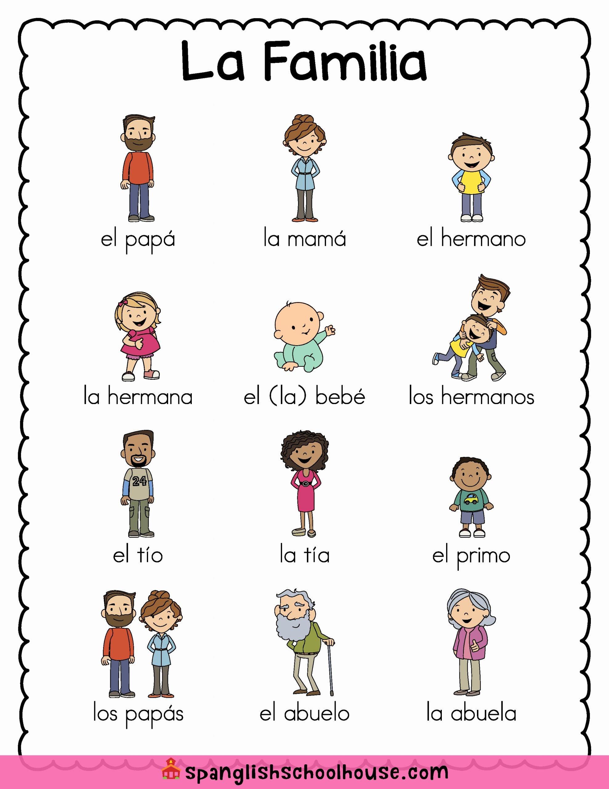 La Familia Worksheet In Spanish top La Familia Family Vocabulary In Spanish