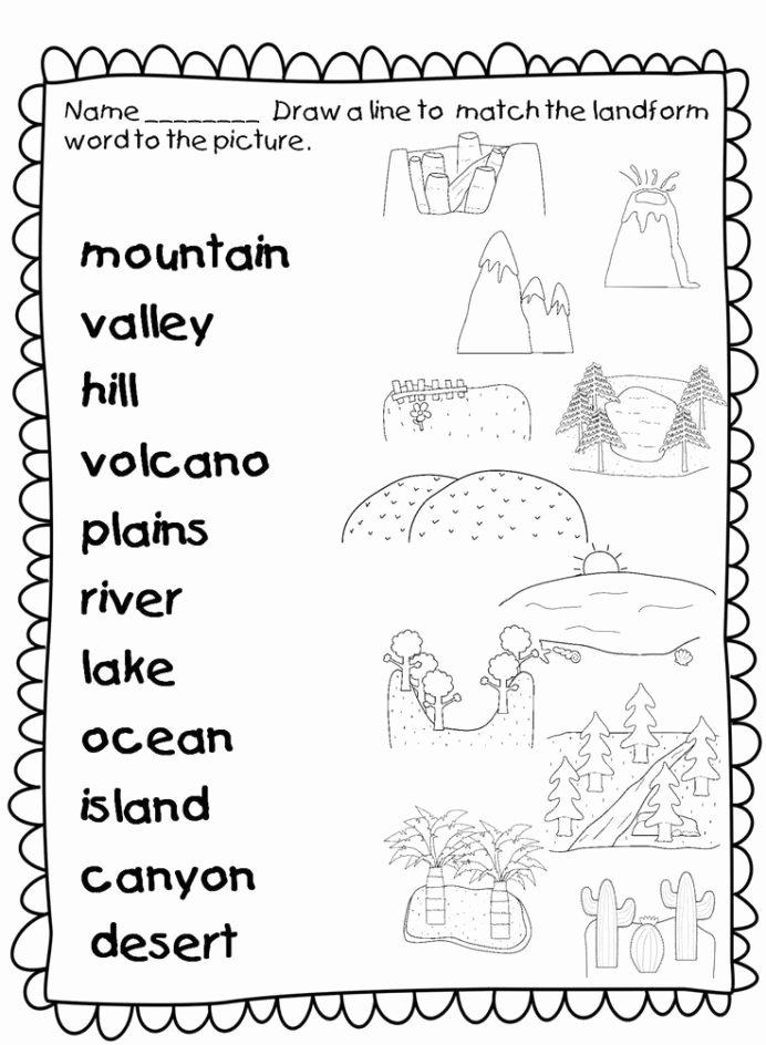 Landform Worksheets for 2nd Grade Fresh Free 1st Grade social Stu S Worksheets In First