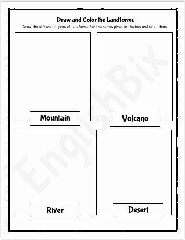Landform Worksheets for 2nd Grade Lovely Earth S Landforms Drawing Worksheets for 2nd Grade Englishbix