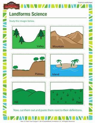Landforms Worksheets for 5th Grade Kids Free Worksheets On Landforms