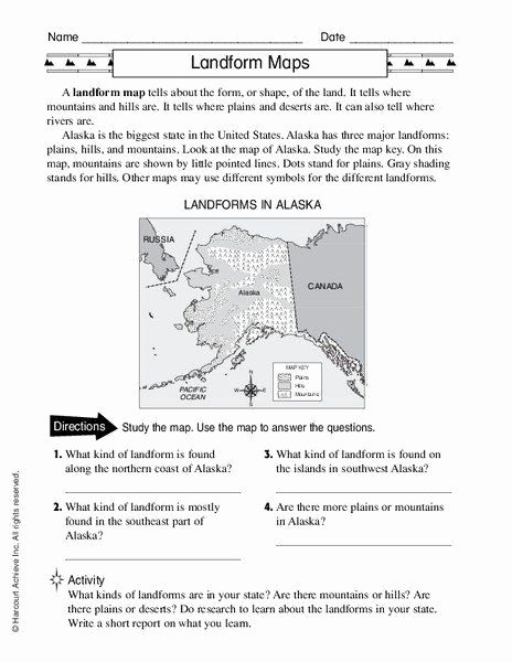 Landforms Worksheets for 5th Grade New Pin On organized Printable Grade Worksheet