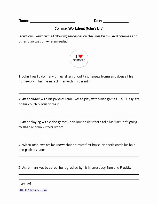 Language Arts Worksheets 8th Grade New 8th Grade English Worksheets Printable In 2020