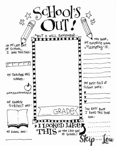 Last Day Of School Worksheets Best Of 5 End School Printables