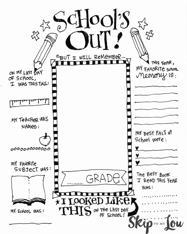 Last Days Of School Worksheets Best Of the Coolest Free Printable End Of School Coloring Page