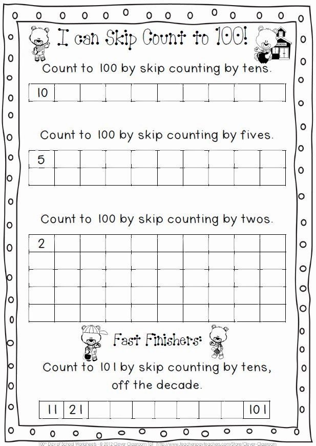 Last Days Of School Worksheets Fresh February Printables Bo 100th Day Of School and