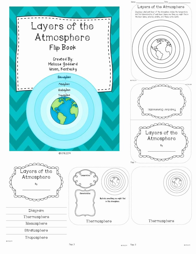 Layers Of the atmosphere Worksheet Inspirational Layers Of the atmosphere Booklet and Activities
