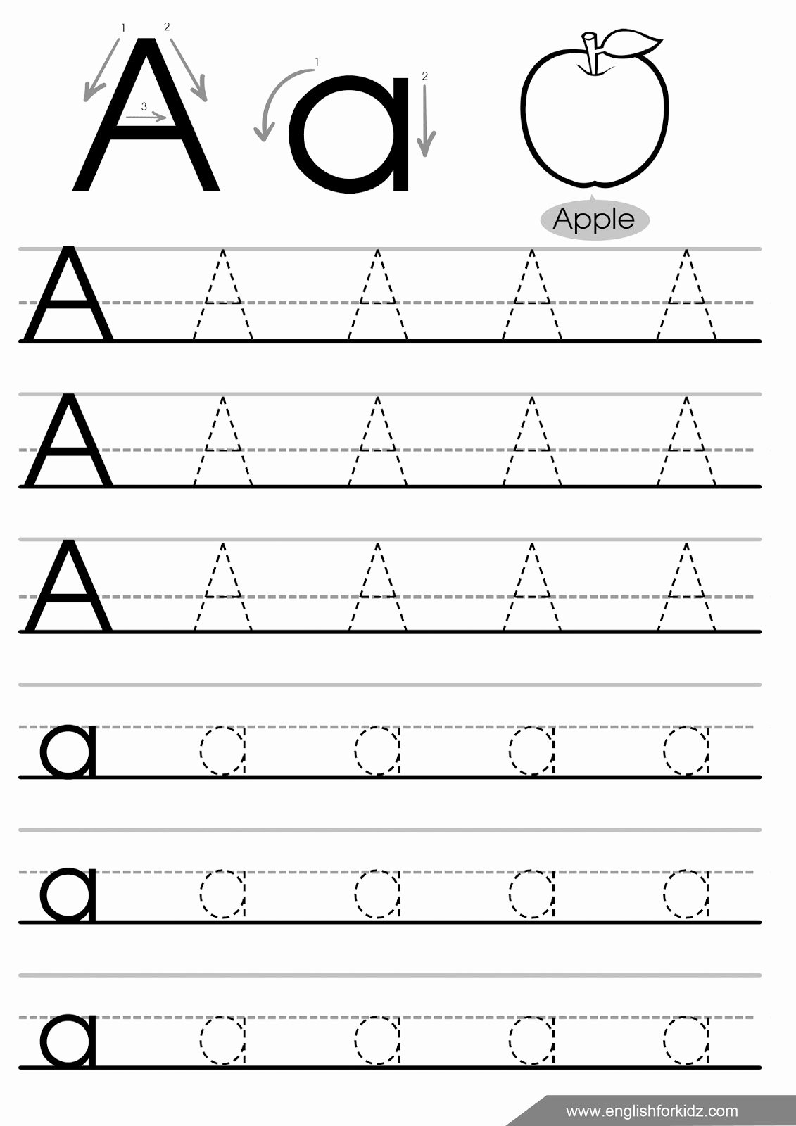 Letter and Number Tracing Worksheets top Letter Tracing Worksheets Letters Worksheet Fourth Grade