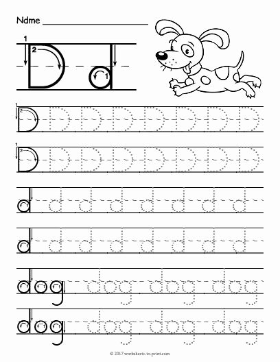 Letter D Worksheet for Preschool Free Free Printable Tracing Letter D Worksheet