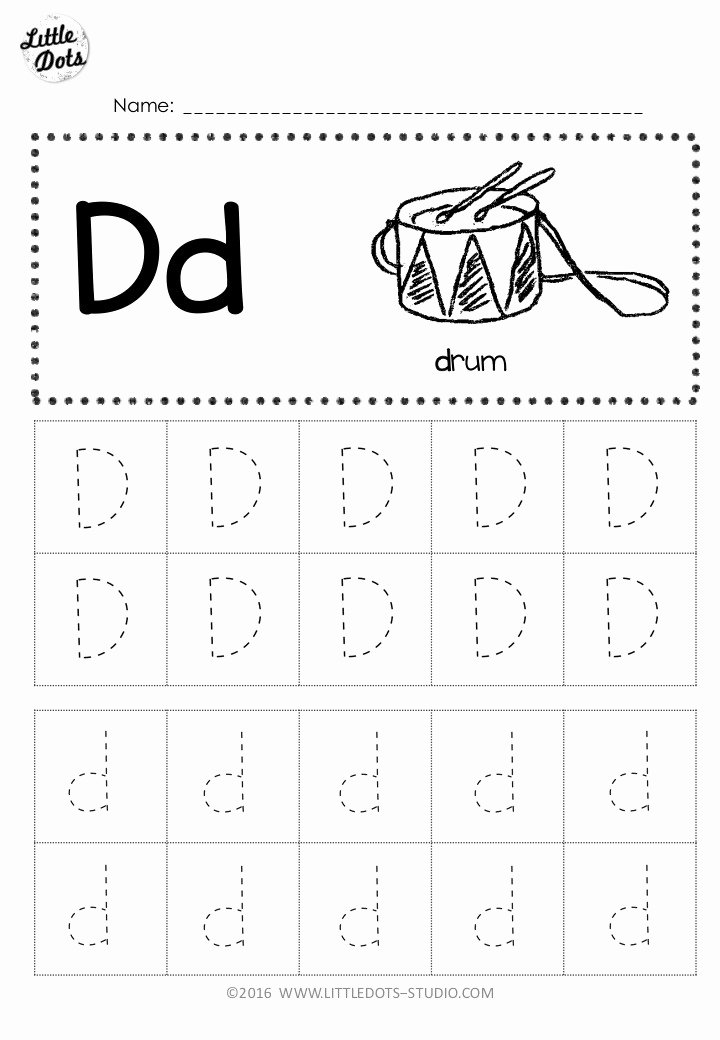 Letter D Worksheet for Preschool Fresh Free Letter D Tracing Worksheets