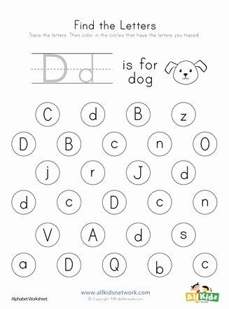 Letter D Worksheet for Preschool Inspirational Find the Letter D Worksheet
