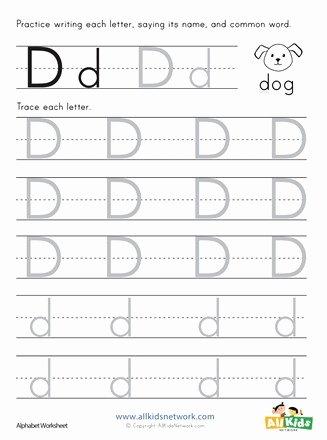 Letter D Worksheet for Preschool Inspirational Letter D Tracing Worksheet