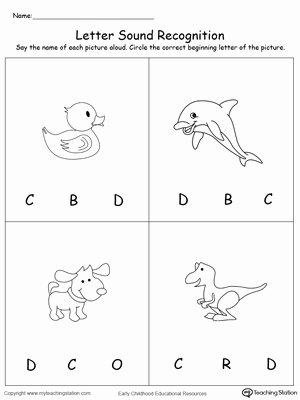 Letter D Worksheet for Preschool Inspirational Recognize the sound Of the Letter D