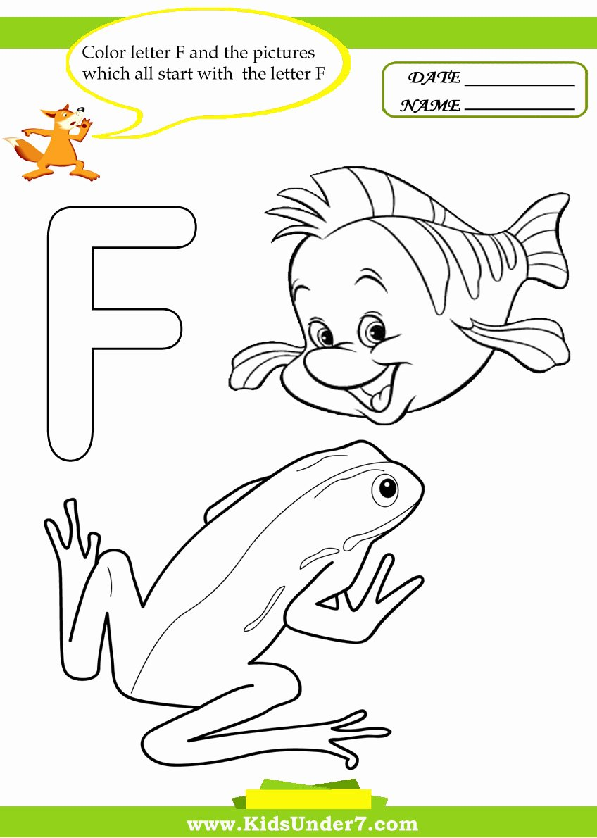 Letter F Worksheets for toddlers Free Stunning Letter Coloringagehoto Ideas Kids Under Worksheets