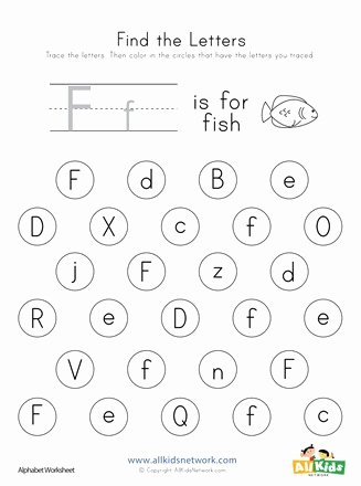 Letter F Worksheets for toddlers Kids Find the Letter F Worksheet