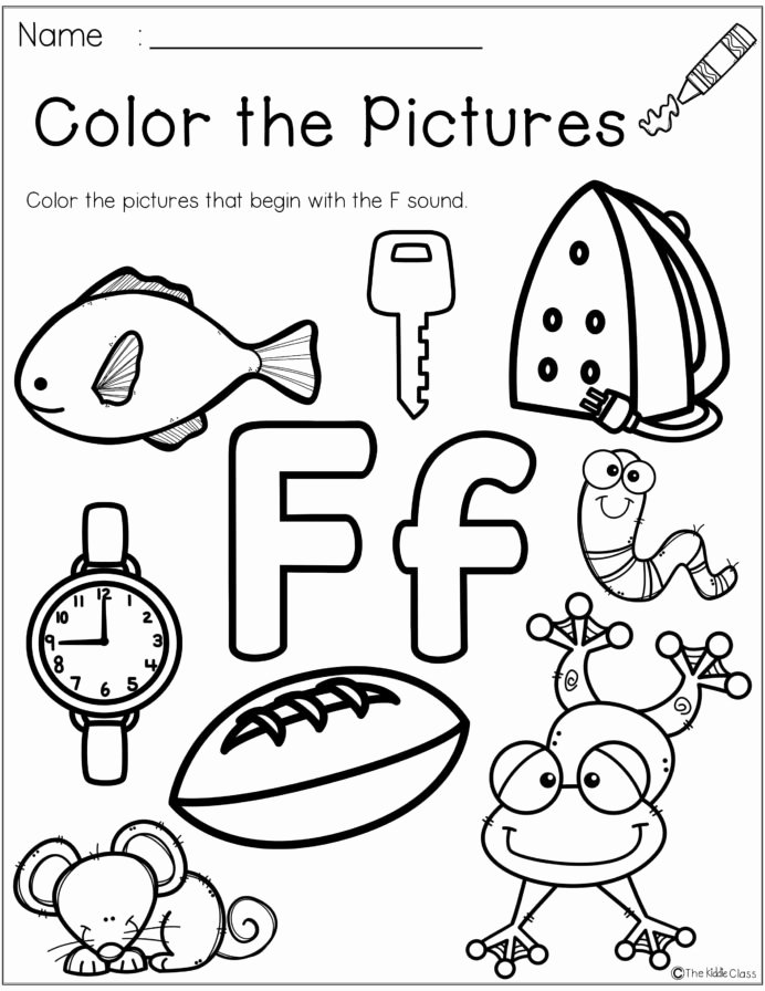Letter F Worksheets for toddlers top Letter the Week Lettering Phonics Activities Worksheets