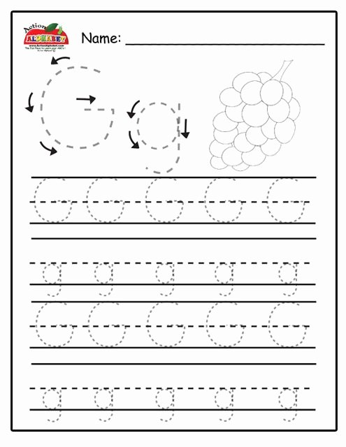 Letter G Tracing Worksheets Preschool Best Of Trace Letters Preschool Lesson Plans