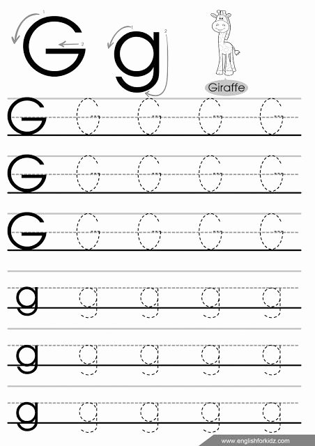 Letter G Tracing Worksheets Preschool top Letter G Tracing Paper