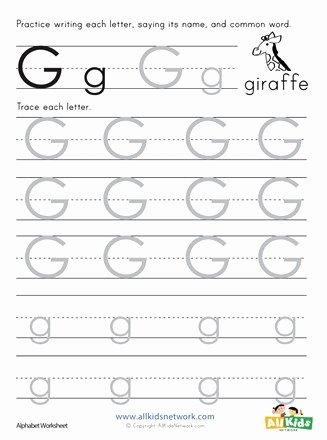 Letter G Tracing Worksheets Preschool top Letter G Tracing Worksheet