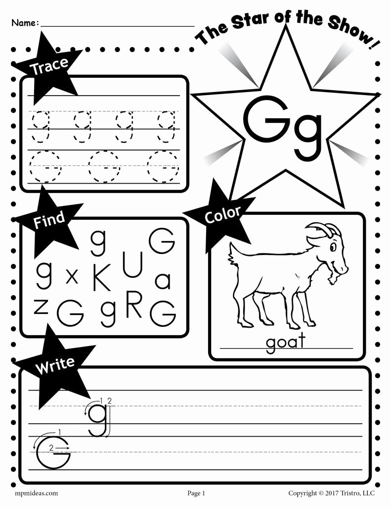 Letter G Worksheets for Kindergarten Free Letter G Worksheet Tracing Coloring Writing & More