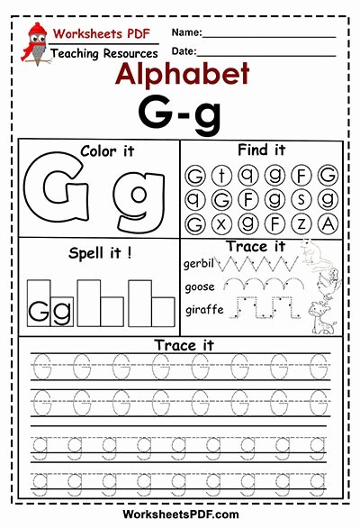 Letter G Worksheets for Kindergarten Ideas Letter G G Activities – Free Printables Worksheets Pdf
