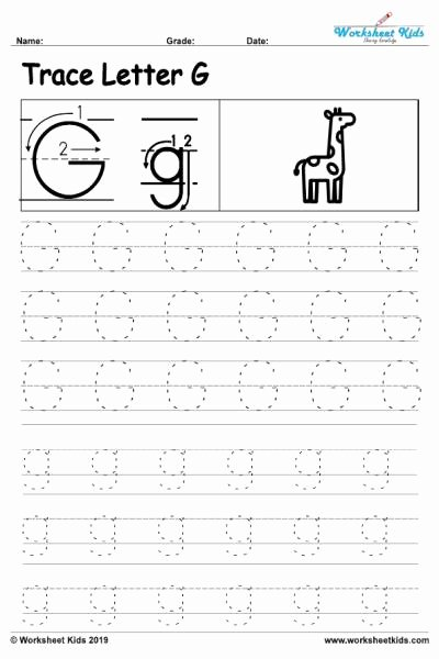 Letter G Worksheets for Kindergarten Kids Letter G Alphabet Tracing Worksheets Free Printable Pdf